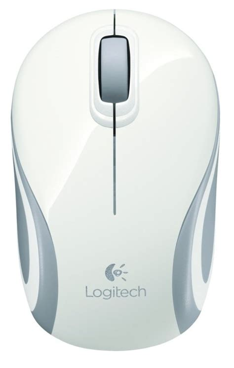 Logitech M187 Wireless Mini Mouse Original White logitech wireless mini mouse m187 white ebuyer