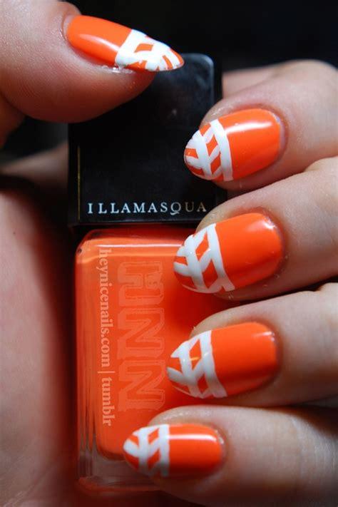 orange pattern nails 55 orange nail art ideas for girls