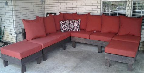 white outdoor sectional diy projects