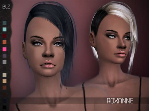 sims 4 half shaved side hair sims 4 hairs the sims resource roxanne hair retextured