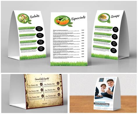 4x6 Table Tent Template by 4x6 Table Tent Printing
