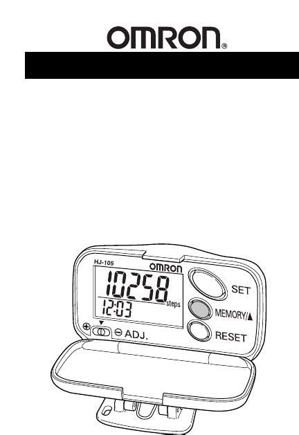 Freestyle Digital Pedometer Instruction Manual Free