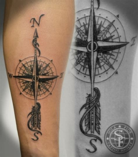 arrow compass tattoo 20 compass tattoos tattoofanblog