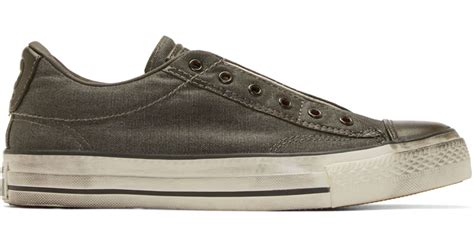Jual Converse X Varvatos converse x varvatos grey canvas chuck slip on sneakers in gray for grey lyst