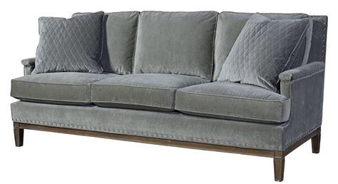 gray velvet couch prescott gray velvet sofa 530501 200 universal