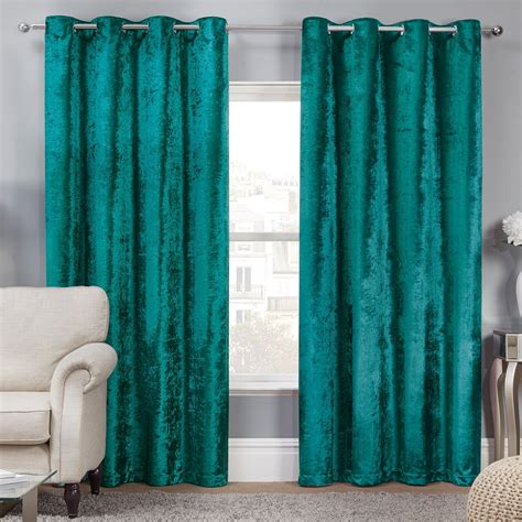 what the curtains elegance allure teal crushed velvet luxury eyelet curtains