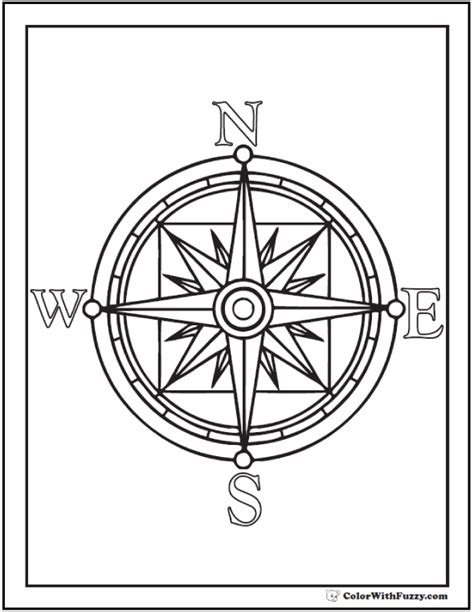 coloring pages of a compass rose freecoloring4u com