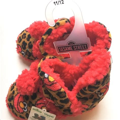 elmo house slippers sesame street sesame street elmo fuzzy house slipper boots from vicklyn s closet on