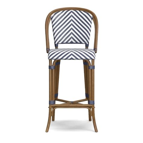 bistro bar chairs parisian bistro woven bar stool williams sonoma