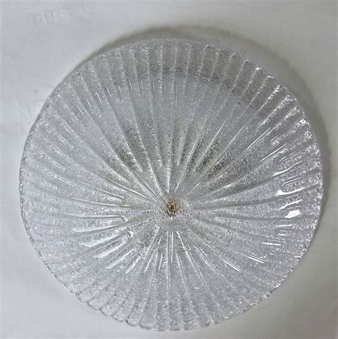 Flush Glass Ceiling Light Pair Murano Rugiadoso Clear Glass Flush Mount Ceiling Lights At 1stdibs