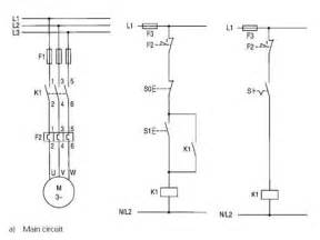 typical circuit diagram of direct on line starter plc
