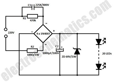 White Led Flood Lights Circuit Led Light Bulbs Circuit Diagram
