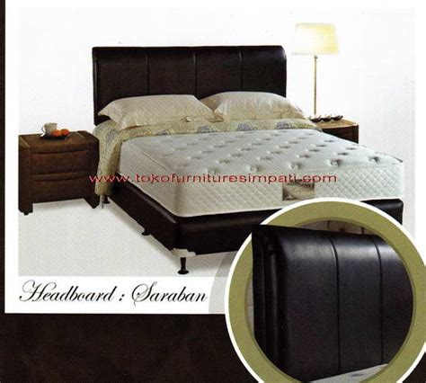 Ranjang Quantum quantum heavenly comfort 23 cm saraban headboard toko kasur bed murah simpati furniture