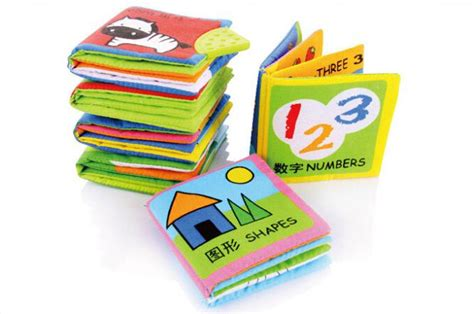 Soft Book 6 different books set soft baby cloth book early learning