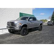 Lifted Silver Dodge Ram Truck 2500