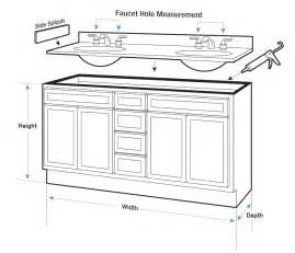 vanity tops buying guide hayneedle - Bathroom Vanity Sizes Standard