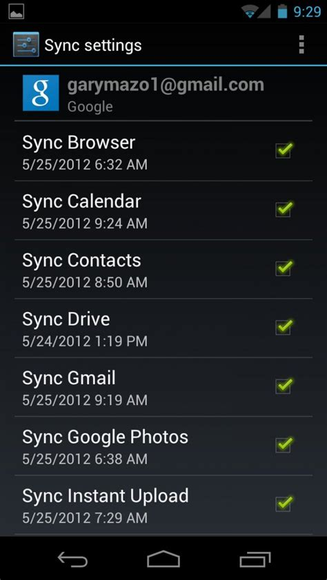 android sync settings how to sync your galaxy nexus with your account android central
