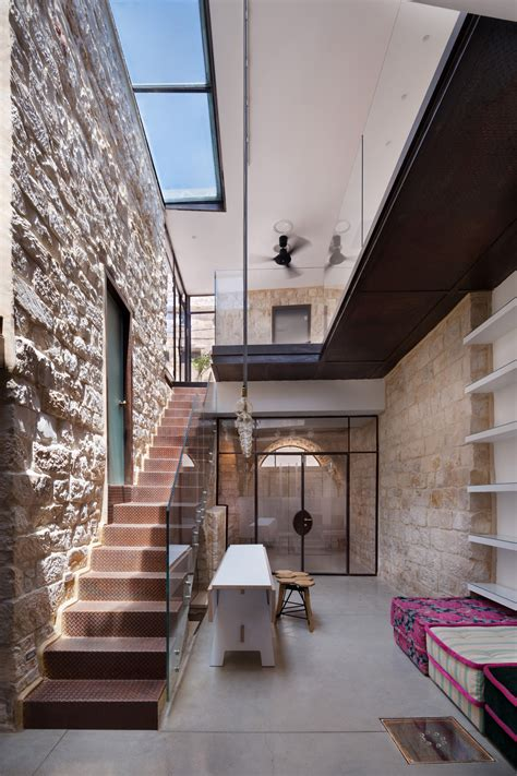 old house modern renovation stone house in israel built in the shape of the hebrew letter chet idesignarch