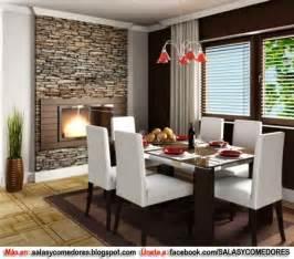 Decoraci 211 n de comedor con chimenea salas y comedores decoracion de