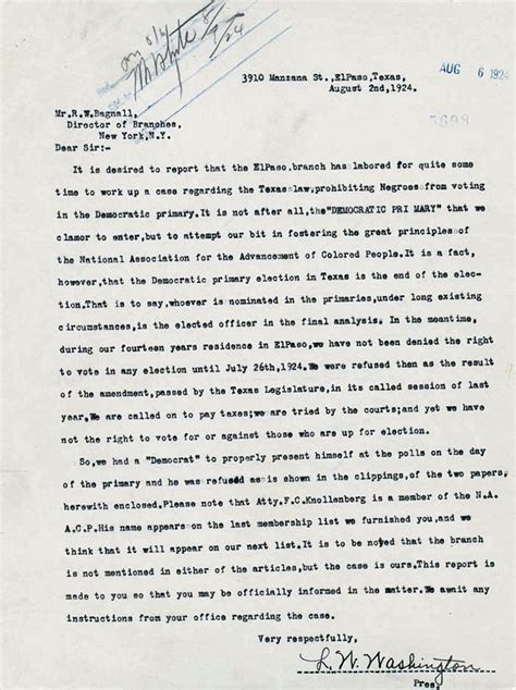 Appeal Letter For Gifted And Talented Program The New Negro Movement Naacp A Century In The Fight For Freedom Exhibitions Library Of
