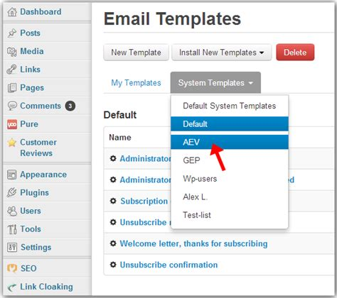 customize email templates in wpnewsman plugin g lock software