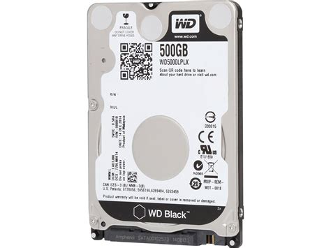 Wdc Int 25 500gb Sata hdd 500gb western digital black 2 5 quot sata3 7200rpm newhomepc