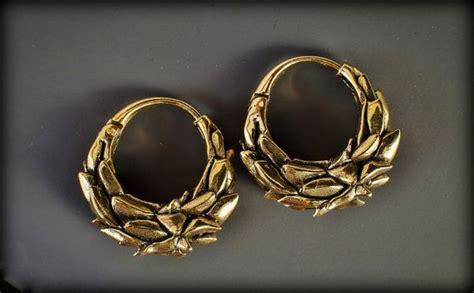tribal brass ear weights gauges heavy earrings