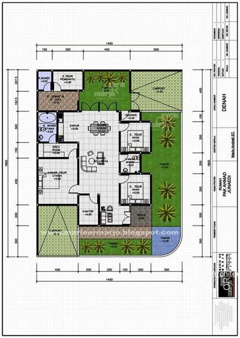gambar desain denah rumah minimalis 4 kamar tidur desain interior
