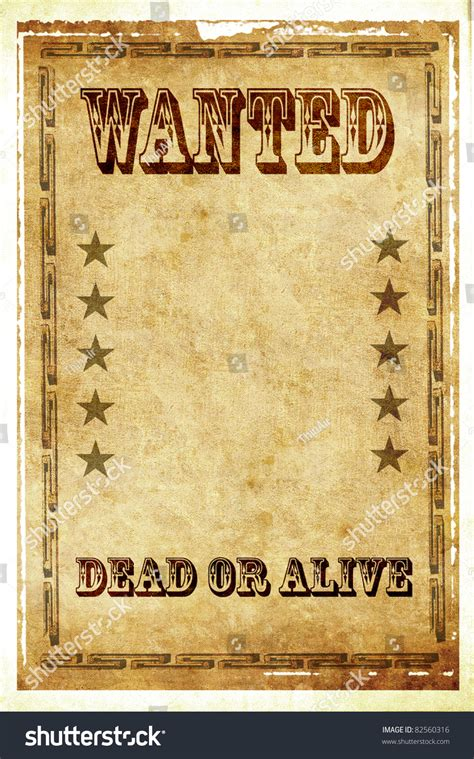 wanted dead or alive poster template free wanted dead alive vintage poster stock illustration