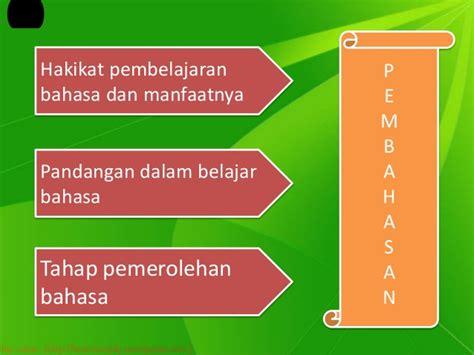 Teori Belajar Bahasa teori belajar bahasa pend bhs dan sastra indonesia