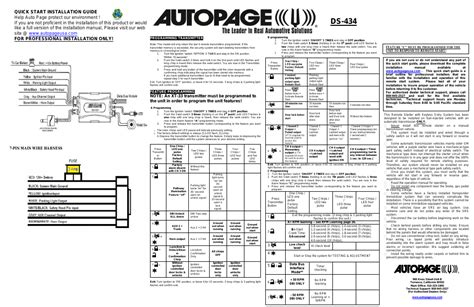 autopage remote start manual xt 33 wiring diagrams