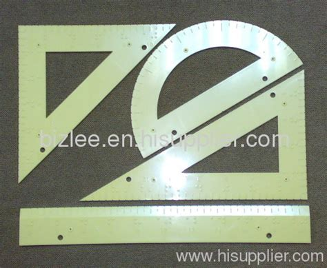 Set Geometric Pelikan Metal geometry set braille sign tactile for vision impaired loss manufacturer from china