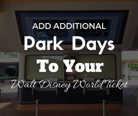 add additional park days to your walt disney world ticket
