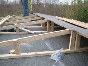Flat Roof To Pitched Roof Building