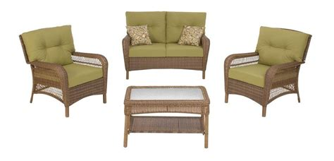 msl charlottetown 4 patio furniture set in brown