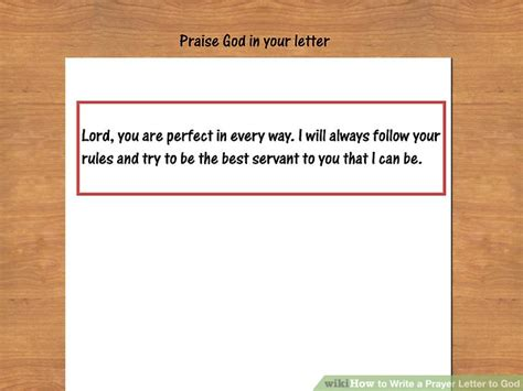 How To Write A Prayer Request Letter