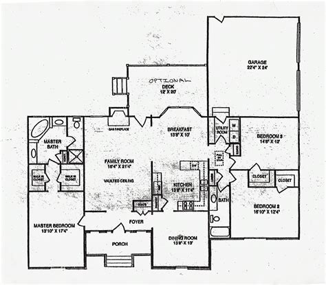 ranch floor plans with large kitchen 2400 sq ft ranch home floor plans