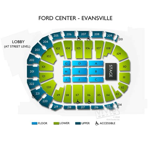 ford center seating evansville indiana ford center evansville tickets ford center evansville