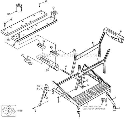 black decker workmate spares black and decker mm003 parts list and diagram type 1