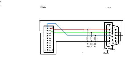 15 pin vga wiring diagram get free image about wiring