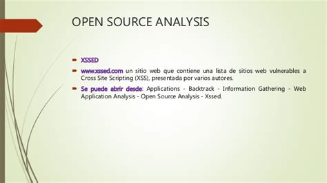 pattern analysis open source open source analysis