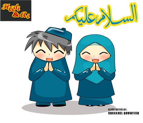 wallpaper kartun anak sholeh kartun muslimah saling berbagi