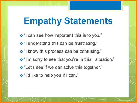 acknowledgement for thesis 6 empathy statements pay statements