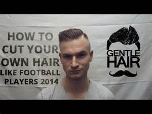 how to trim your hair for males how to cut your own hair for men football players