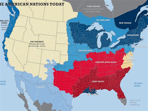 american cultural map the 11 nations of the united states business insider