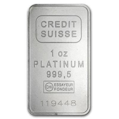 Credit Suisse Bank Guarantee Format Treasure Coast Bullion Gt Platinum Products Gt Credit Suisse Platinum Bars