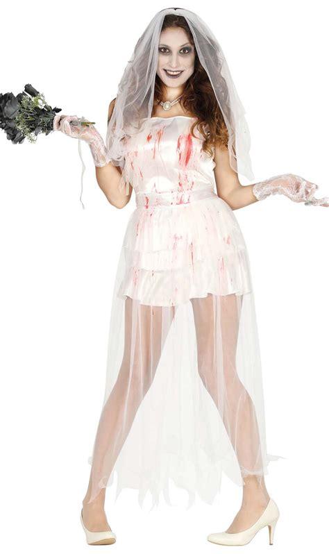 imagenes de halloween vestidos disfraz de novia sangrienta para mujer