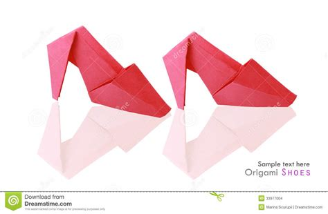 How To Make Origami Shoes - origami shoes stock illustration image of health