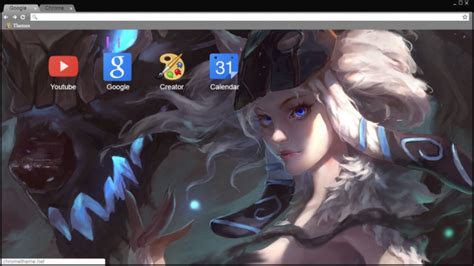 themes google chrome league of legends kindred league of legends chrome theme themebeta