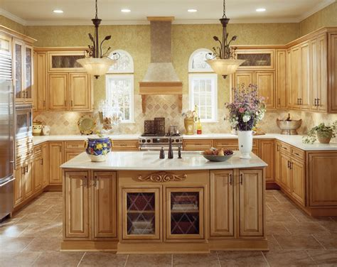 maple praline cabinets